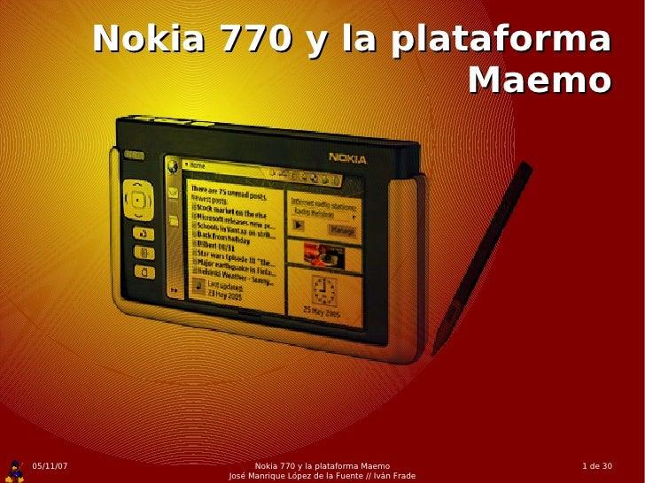 Nokia 770 y la plataforma Maemo