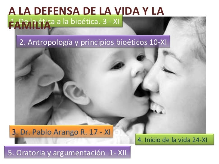 Antropología y principios bioéticos A LA DEFENSA DE LA VIDA Y LA FAMILIA 1. De la ética a la bioética. 3 - XI 2.  Antropol...