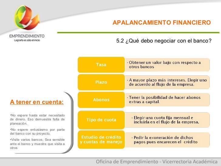 Conferencia apalancamiento financiero for Oficinas de banco financiero