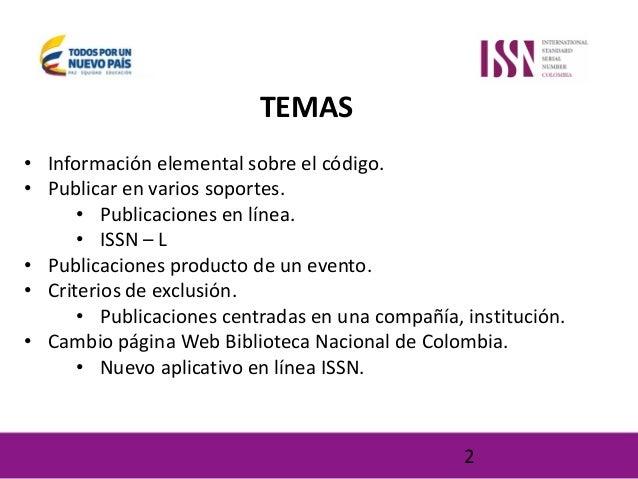 Usos y beneficios del número ISSN Slide 2