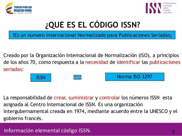 Usos y beneficios del número ISSN Slide 3