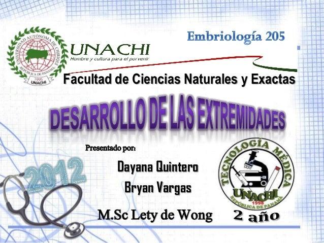 Facultad de Ciencias Naturales y Exactas   Presentado por:            Dayana Quintero             Bryan Vargas      M.Sc L...