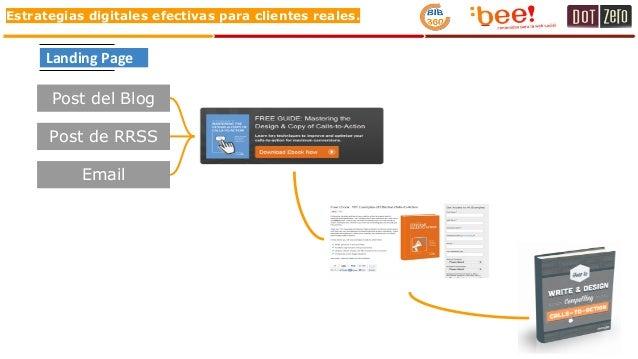 Estrategias digitales efectivas para clientes reales. Post del Blog Post de RRSS Email Landing Page