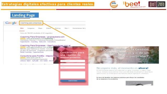Estrategias digitales efectivas para clientes reales. Landing Page