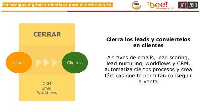 Estrategias digitales efectivas para clientes reales. Cierra los leads y conviertelos en clientes A traves de emails, lead...