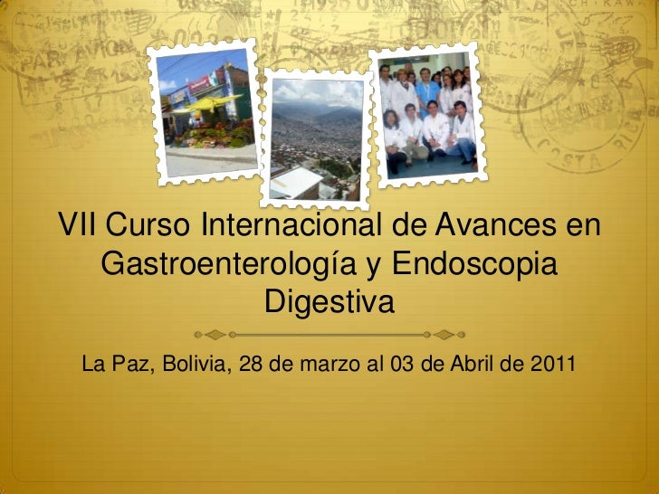 VII Curso Internacional de Avances en Gastroenterología y Endoscopia Digestiva<br />La Paz, Bolivia, 28 de marzo al 03 de ...