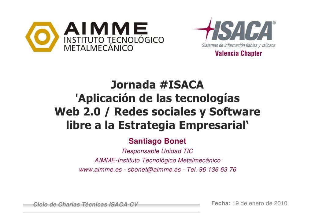 Logo     Empresa     Ponente                      Jornada #ISACA           'Aplicación de las tecnologías        Web 2.0 /...