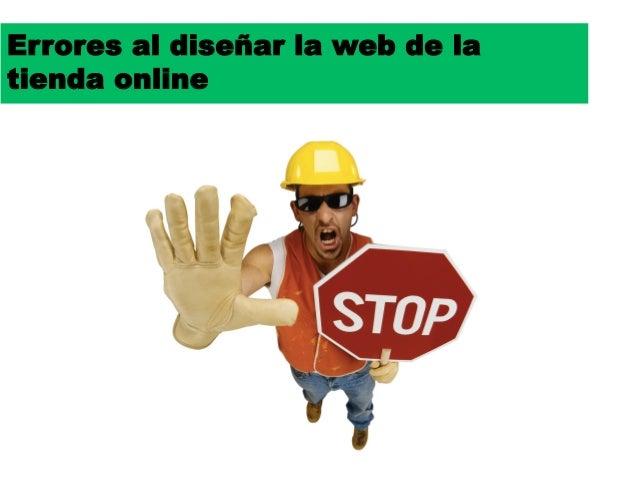 Errores al diseñar la web de latienda online