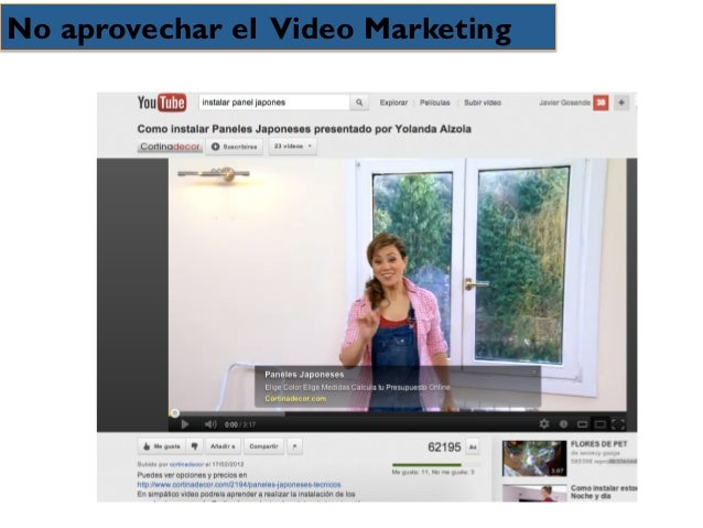 No aprovechar el Video Marketing