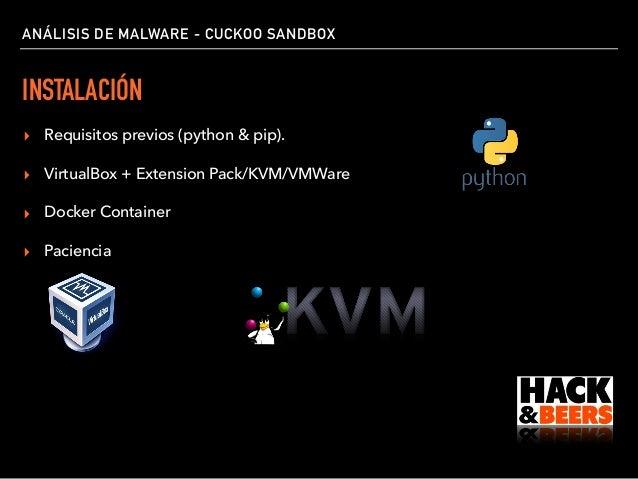 Hack&Beers Cadiz Análisis de Malware Cuckoo Sandbox