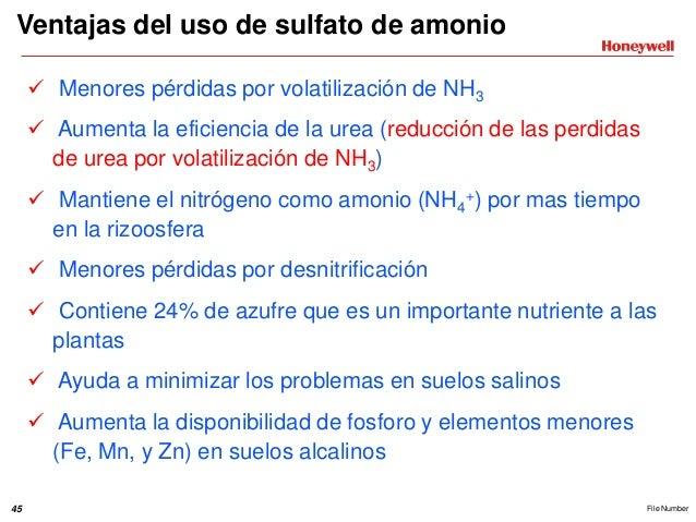 sulfato de amonio usos