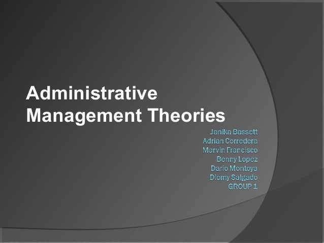 administrative management perspective Management the administrative approach and the bureaucratic approach   new perspective to management, the hawthorne studies changed the role of.