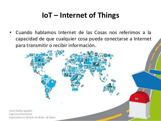 IoT - Internet of Things• Con IoT la relación entre las personas y los objetos a sepotencia con Internet, adicional a este...