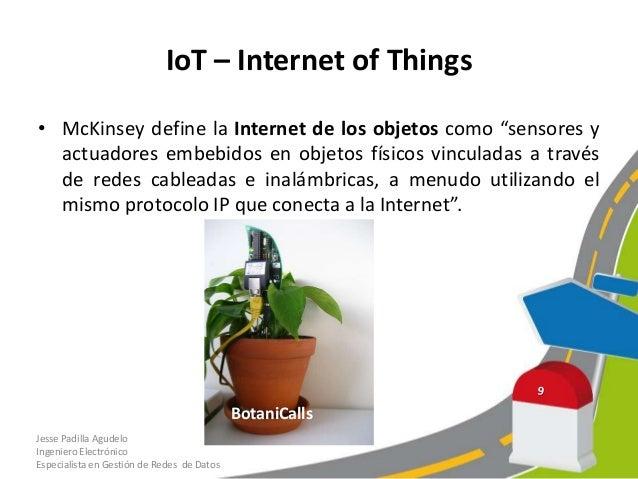 IoT – Internet of Things• Cuando hablamos Internet de las Cosas nos referimos a lacapacidad de que cualquier cosa pueda co...
