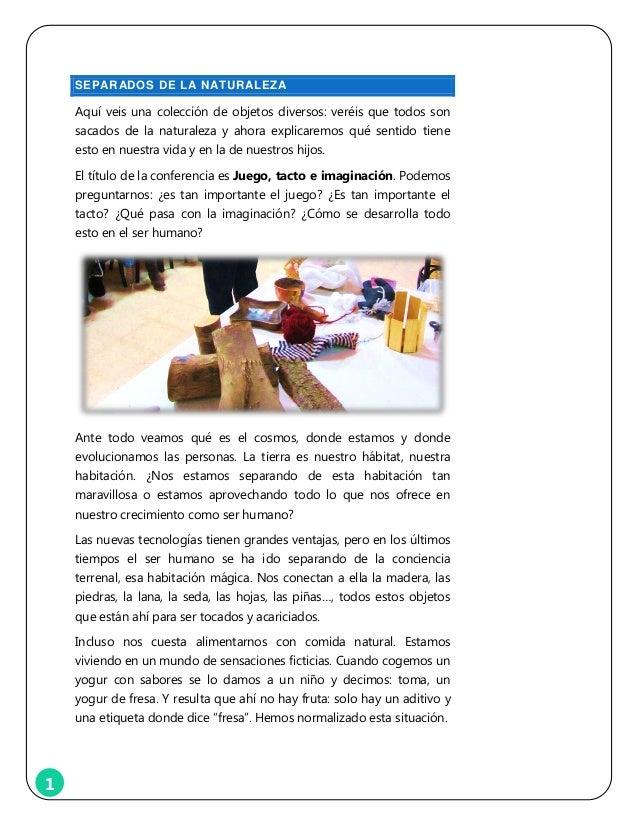 Juego, tacto e imaginacion - conferencia Slide 2