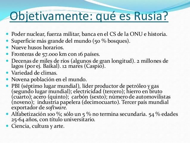 La 3 miradas acerca de Rusia  Liberal. Civilización occidental. Foco en DDHH, régimen democrático, apertura a Europa, ali...