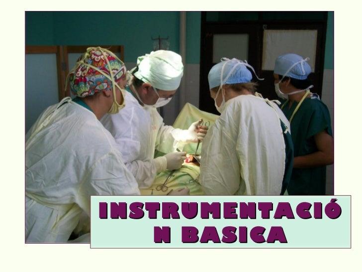 INSTRUMENTACIÓ   N BASICA