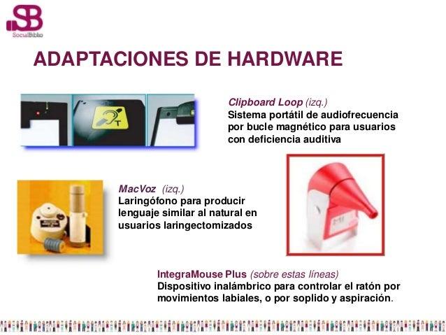 ADAPTACIONES DE HARDWARE                             Clipboard Loop (izq.)                             Sistema portátil de...