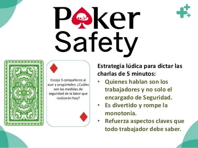 El Póker Safety viene en un sobre con 20 Cartas, cada una con un mensaje distinto.