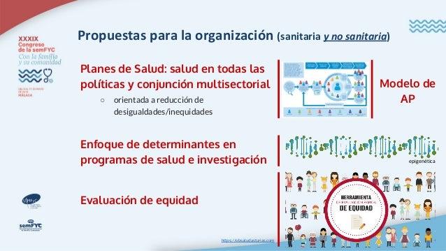 """Documento """"Avanzando en Equidad (Propuesta de Políticas e Intervenciones para reducir las desigualdades Sociales en salud ..."""