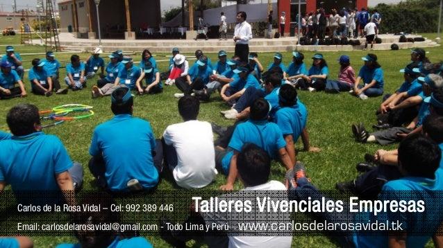 Charlas Motivacionales Para Jovenes De Carlos De La Rosa