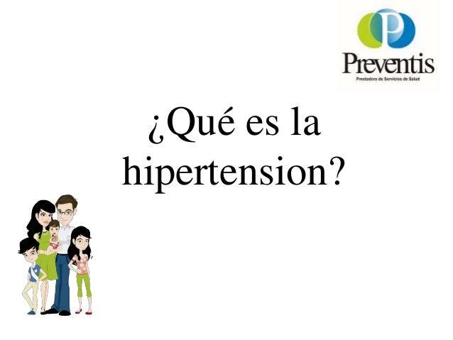• La hipertensión arterial es la elevación persistente de la presión arterial por encima de los valores establecidos como ...