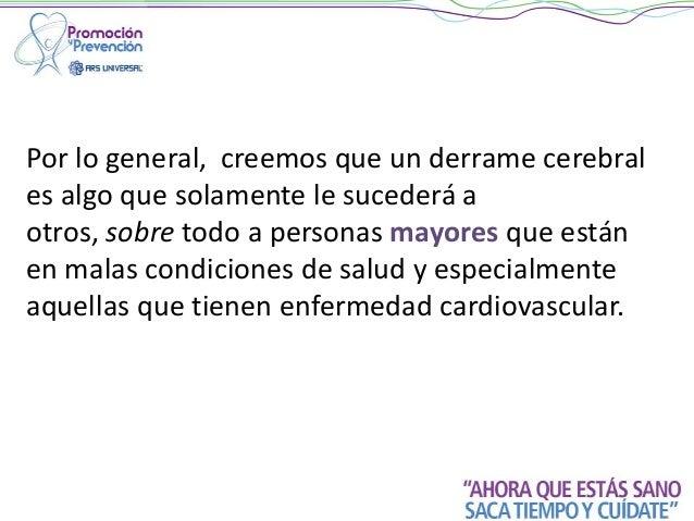 Charlas Para Pacientes: DERRAME CEREBRAL Slide 2