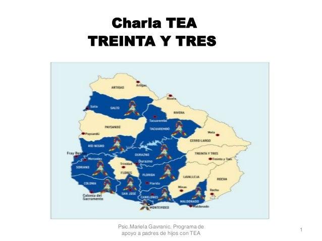 Charla TEA TREINTA Y TRES Psic.Mariela Gavranic. Programa de apoyo a padres de hijos con TEA 1
