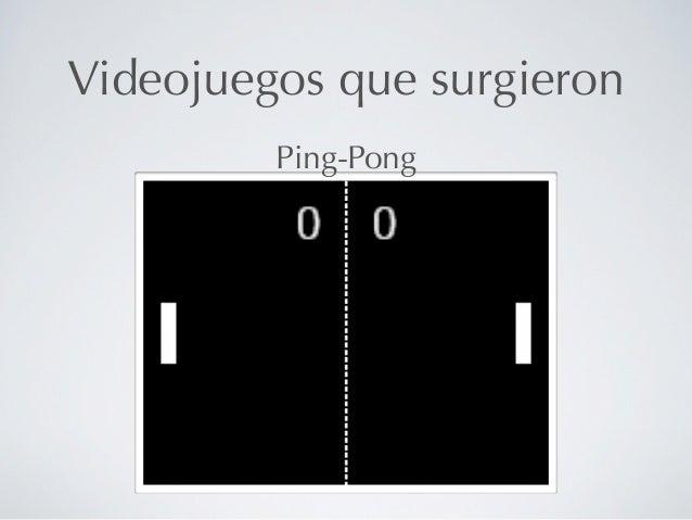 Videojuegos que surgieron         Ping-Pong