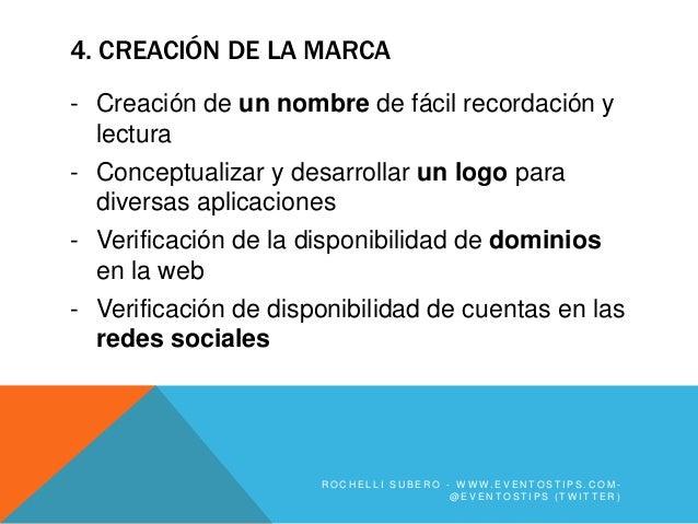 4. CREACIÓN DE LA MARCA- Creación de un nombre de fácil recordación y  lectura- Conceptualizar y desarrollar un logo para ...