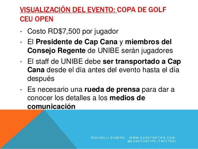 VISUALIZACIÓN DEL EVENTO: COPA DE GOLFCEU OPEN- Costo RD$7,500 por jugador- El Presidente de Cap Cana y miembros del  Cons...