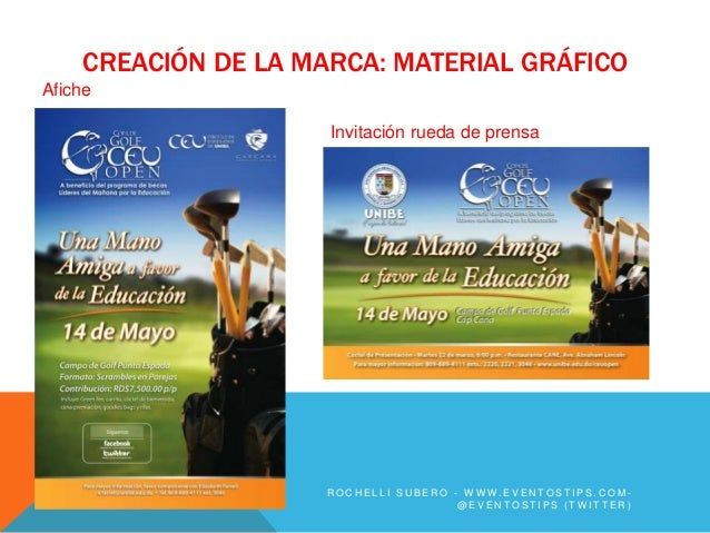 CREACIÓN DE LA MARCA: MATERIAL GRÁFICOAfiche                     Invitación rueda de prensa                    ROCHELLI SU...