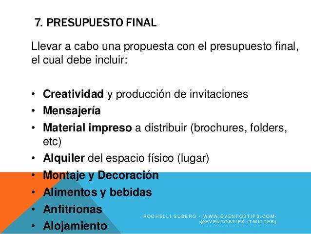 7. PRESUPUESTO FINALLlevar a cabo una propuesta con el presupuesto final,el cual debe incluir:• Creatividad y producción d...