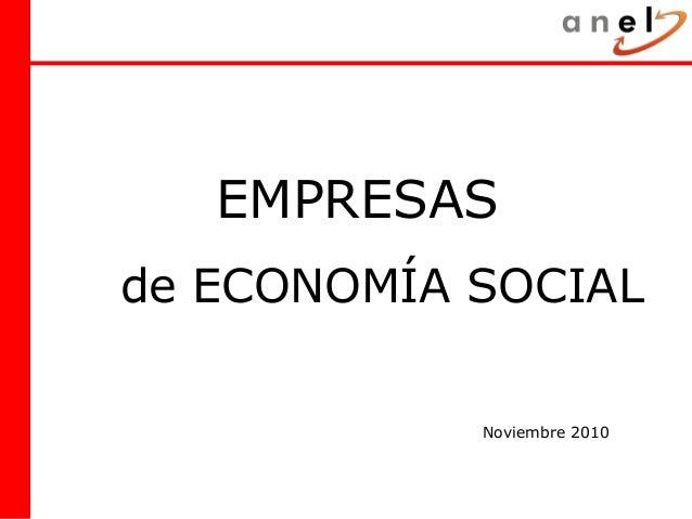 EMPRESAS de ECONOMÍA SOCIAL Noviembre 2010