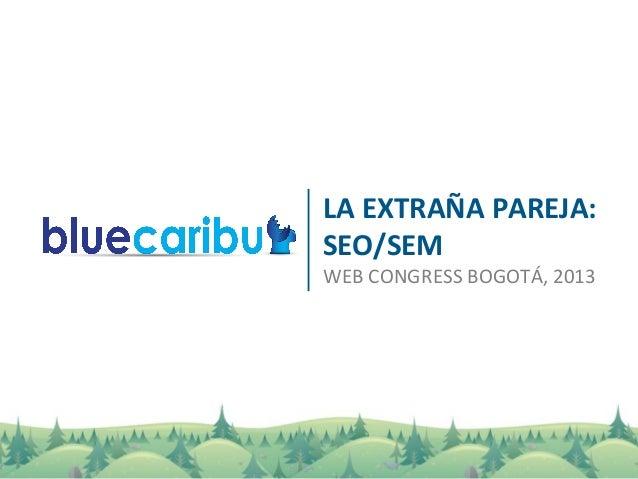 LA EXTRAÑA PAREJA: SEO/SEM WEB CONGRESS BOGOTÁ, 2013