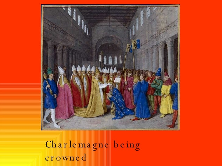 Charlemagne being crowned