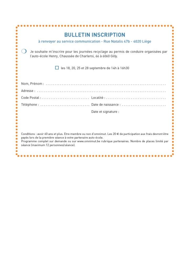 charleroi bulletin inscription r actu code de la route seniors. Black Bedroom Furniture Sets. Home Design Ideas
