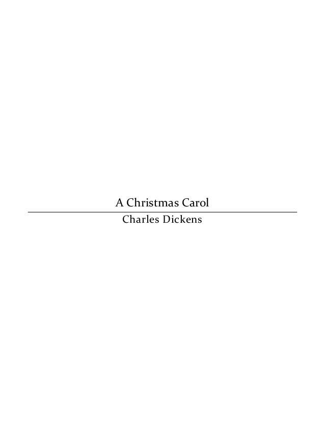 charles dickens a christmas carol pdf