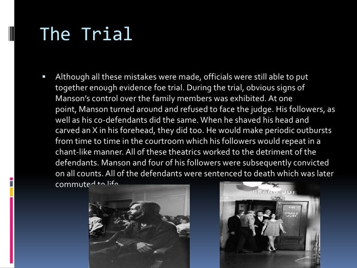 an analysis of police blunders on the manson investigation Jesus is dead (2007) by robert mcnair pricepdf  the whole analysis is striking  ed sanders encountered a number of legends about charlie manson while.