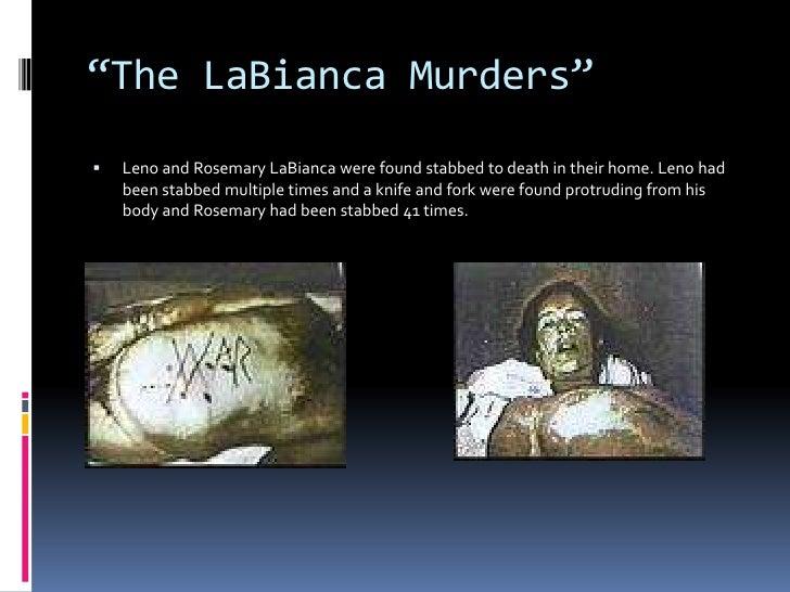 Leno And Rosemary Labianca Charles Manson...