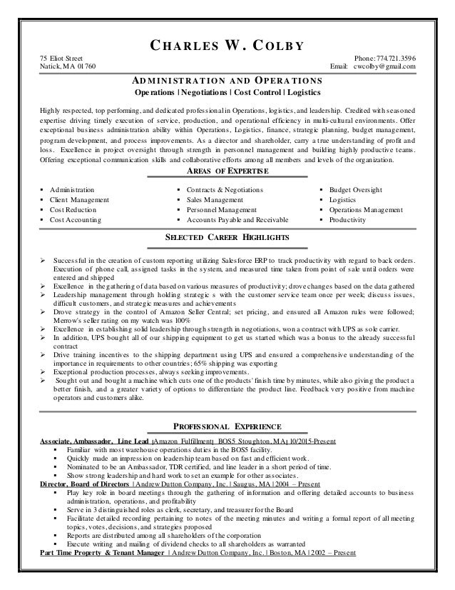 Awesome Amazon Management Resume Contemporary - Best Resume Examples ...