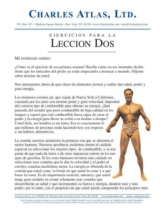 Charles atlas en castellano
