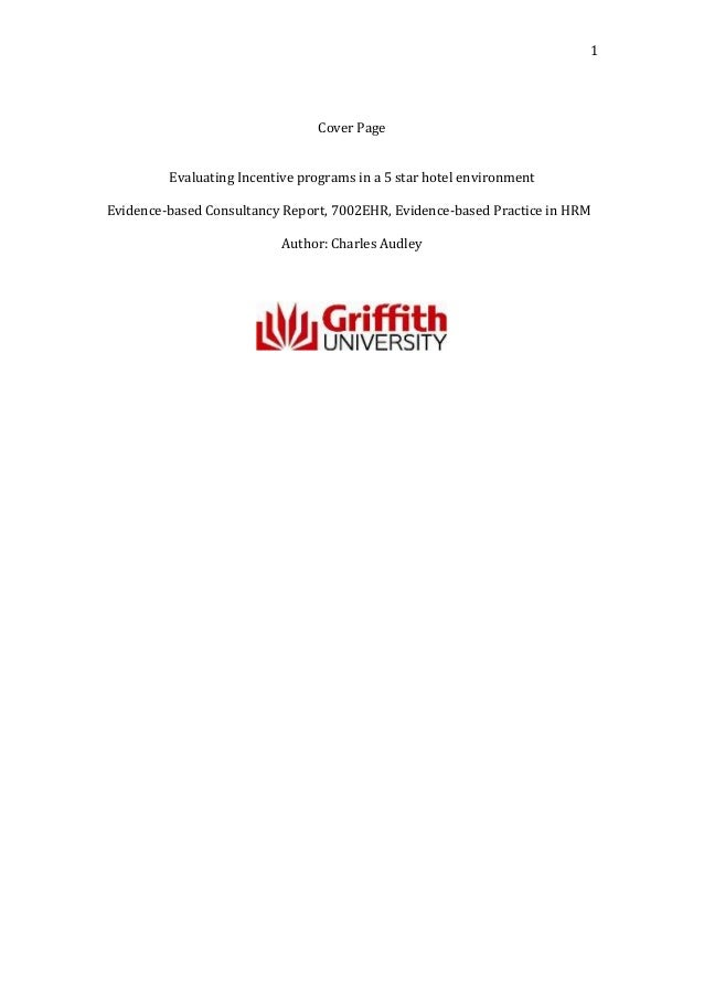 1                                 Cover Page         Evaluating Incentive programs in a 5 star hotel environmentEvidence-b...