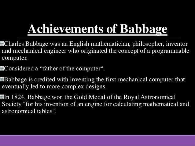 charles babbage computer invention