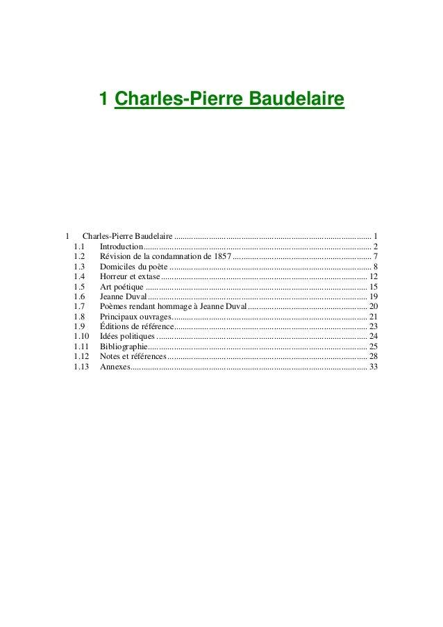 1 Charles-Pierre Baudelaire  1  Charles-Pierre Baudelaire ...................................................................