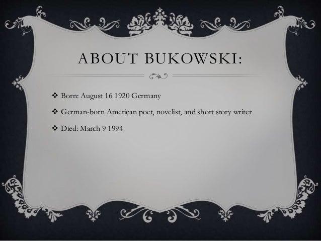 Charles Bukowski Power Point