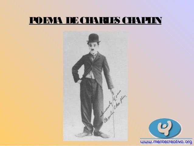 POEMA DECHARLES CHAPLIN