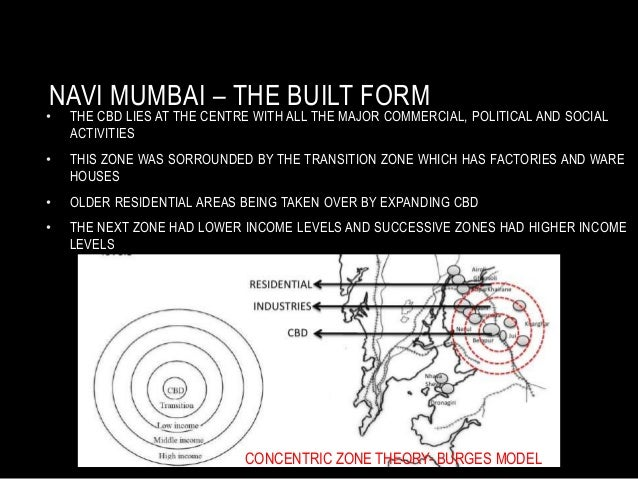 NAVI MUMBAI – THE BUILT FORM • THE CBD LIES AT THE CENTRE WITH ALL THE MAJOR COMMERCIAL, POLITICAL AND SOCIAL ACTIVITIES •...