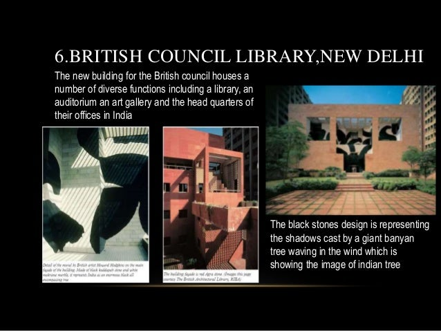 The new building for the British council houses a number of diverse functions including a library, an auditorium an art ga...