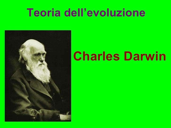 Charles Darwin Teoria dell'evoluzione